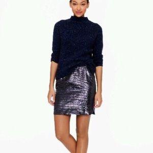 J. Crew Shirttail Mini Sequin Party Club Skirt